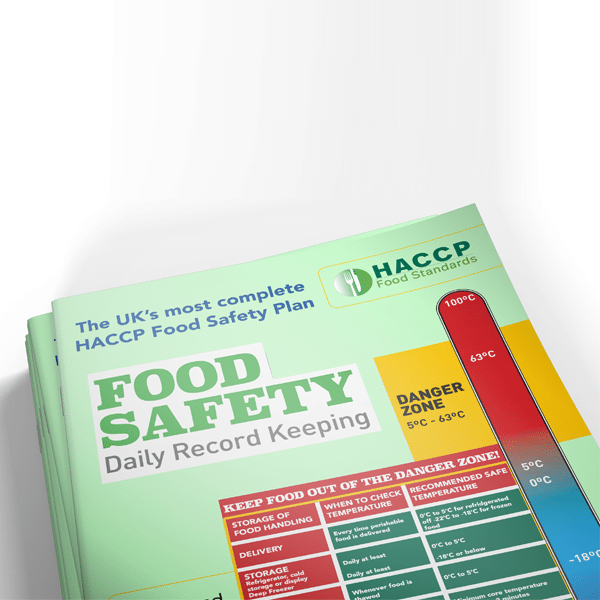HACCP Food Standards Plan - Single Booklet (1 Month)
