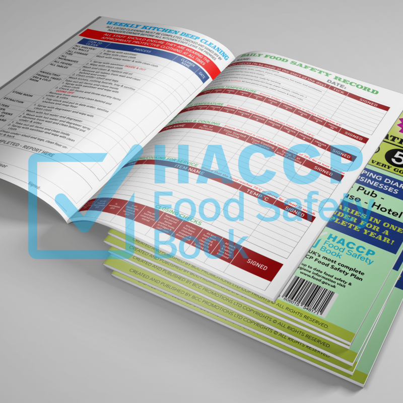 haccp food safety record keeping