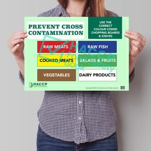 prevent cross contamination sign